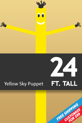 24 FT Air Dancer - Yellow