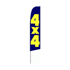 4x4 Feather Flag