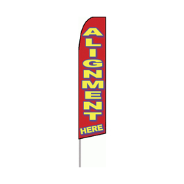 """Alignment Here"" Feather Flag"