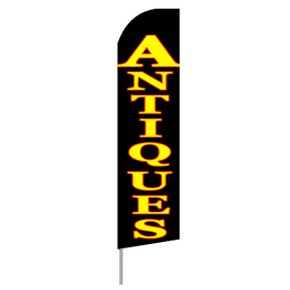 Antiques Feather Flag