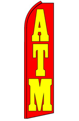 ATM (Red/Yellow) Feather Flag