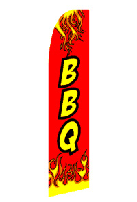 BBQ Red Feather Flag