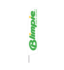 Blimpie Feather Flag