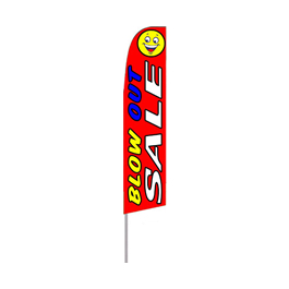 Blow Out Sale (Red) Feather Flag