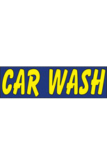 Car Wash (Blue) Vinyl Ad Banner 3 x 10 ft