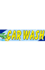 Car Wash (Lt Blue) Vinyl Ad Banner 3 x 10 ft