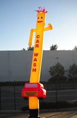 Car Wash SkyPuppet - Yellow (Double-Sided) - 20 Ft.
