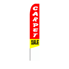 Carpet Sale (Red/Yellow) Feather Flag
