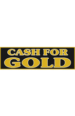Cash For Gold Vinyl Ad Banner 3 x 10 ft