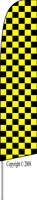 Checkered (Yellow/Black) Feather Flag