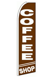 Coffee Shop Feather Flag