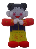 Custom Inflatable Chinese Girl