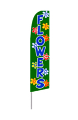 Flowers Feather Flag