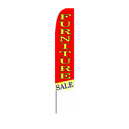 Furniture Sale (Red/Yellow w/Yellow Letters) Feather Flag