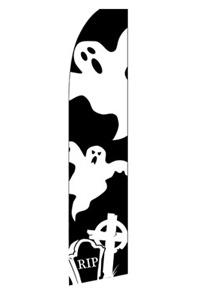 Ghosts - Halloween Feather Flag