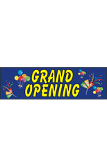 Grand Opening (Party) Vinyl Ad Banner 3 x 10 ft