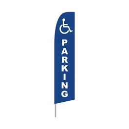 Handicapped Parking Feather Flag