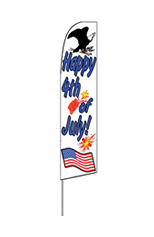 Happy 4th of July Feather Flag