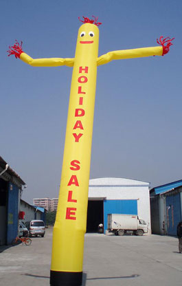 Holiday Sales SkyPuppet - Yellow (Single-Sided) - 20 Ft.