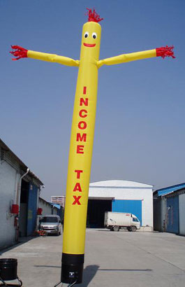 Income Tax SkyPuppet - Yellow (Single-Sided) - 20 Ft.