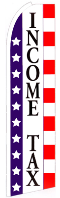 Income Tax (Stars & Stripes) Feather Flag