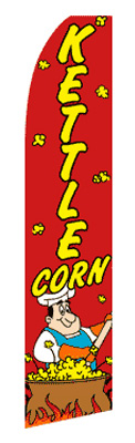Kettle Corn Feather Flag