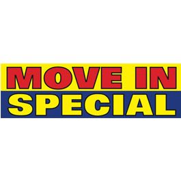 Move In Special Vinyl Ad Banner 3 x 10 ft