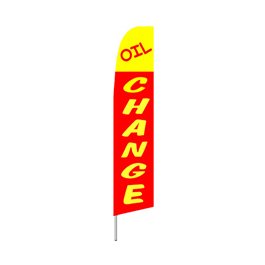Oil Change (Red) Feather Flag