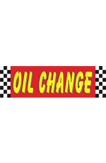 Oil Change Vinyl Ad Banner 3 x 10 ft