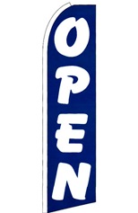 Open (Blue) Feather Flag
