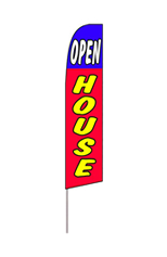 Open House (Blue/Red/Yellow) Feather Flag