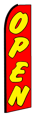 Open (Red/Yellow) Feather Flag