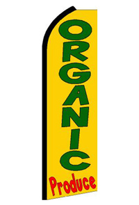 Organic Produce Feather Flag