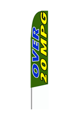 Over 20 MPG Feather Flag