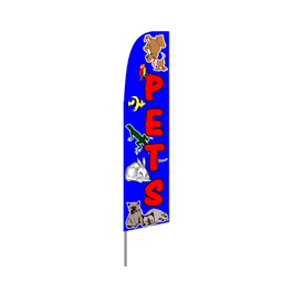 Pets Supplies Feather Flag