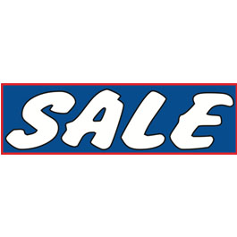 Sale (Blue)Vinyl Ad Banner 3 x 10 ft