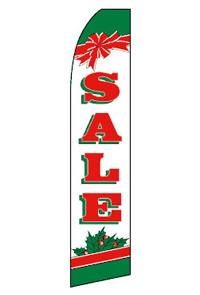 Sale - Christmas Feather Flag
