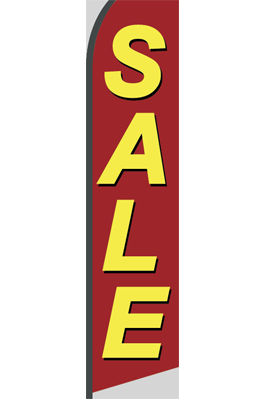 Sale (Red/Big Text) Feather Flag