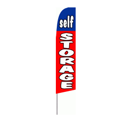 Self Storage (Blue & Red) Feather Flag