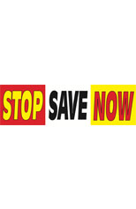 Stop Save Now Vinyl Ad Banner 3 x 10 ft