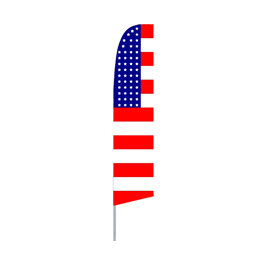 USA Flag Pattern (Horizontal) Feather Flag