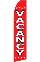 Vacancy (Red/White) Feather Flag