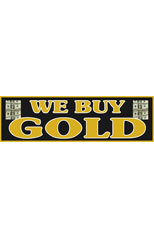 We Buy Gold Vinyl Ad Banner 3 x 10 ft