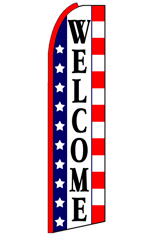 WELCOME (Stars & Stripes) Feather Flag