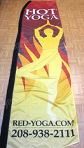 Hot Yoga Custom Feather Flag