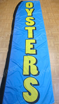 Oysters Custom Feather Flag