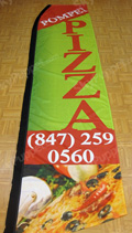 Pompei Pizza Custom Feather Flag