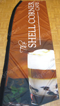 Shell Corner Cafe Custom Feather Flag