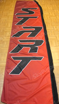 Start - Red Custom Feather Flag