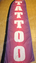 Tattoo Purple Custom Feather Flag